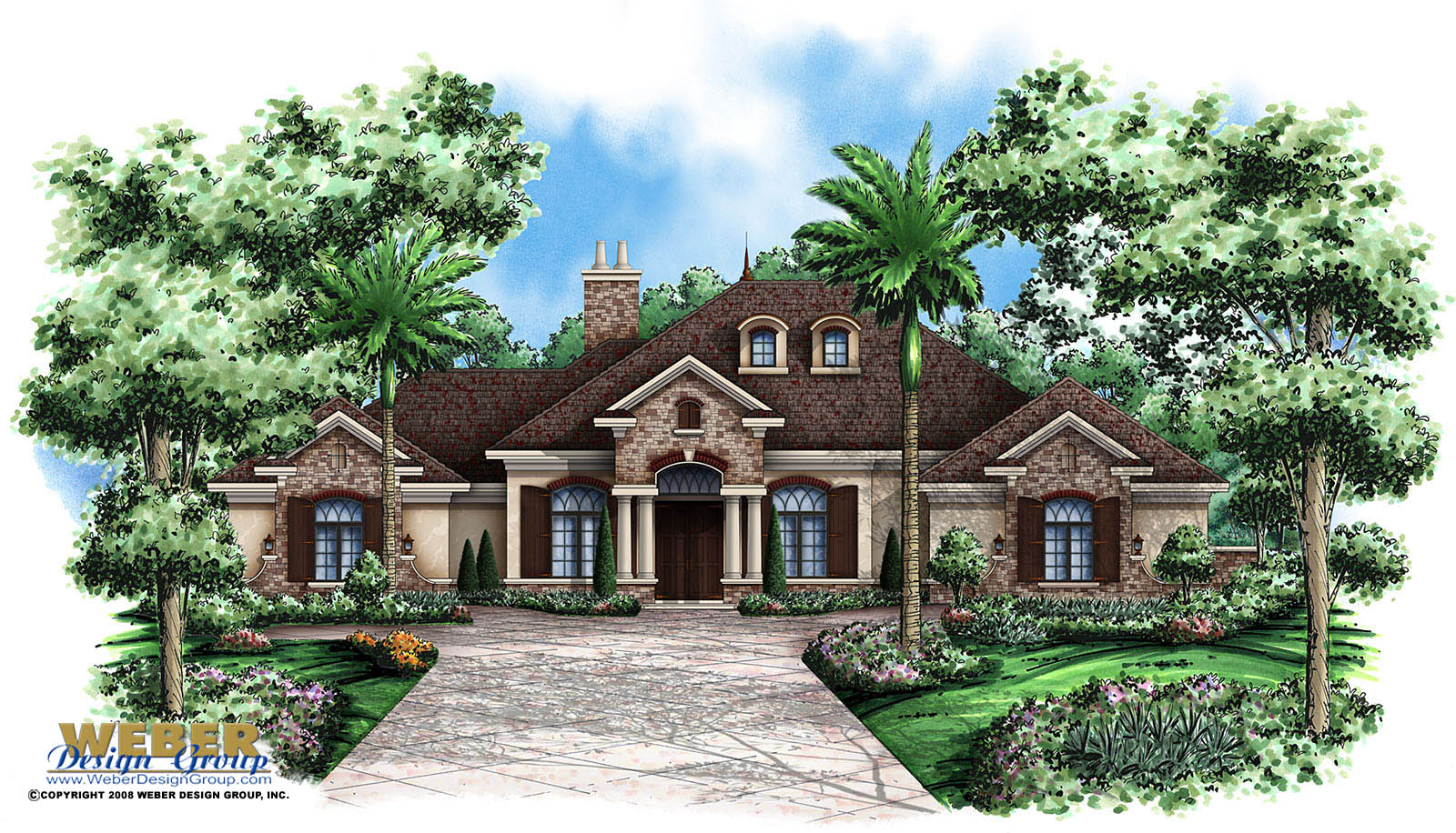 Verdelais home plan weber design group naples fl for Weber house plans