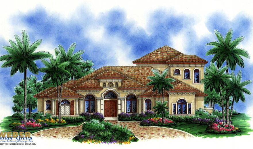 Home Design: Mediterranean House Plan, Coastal Contemporary, Covered