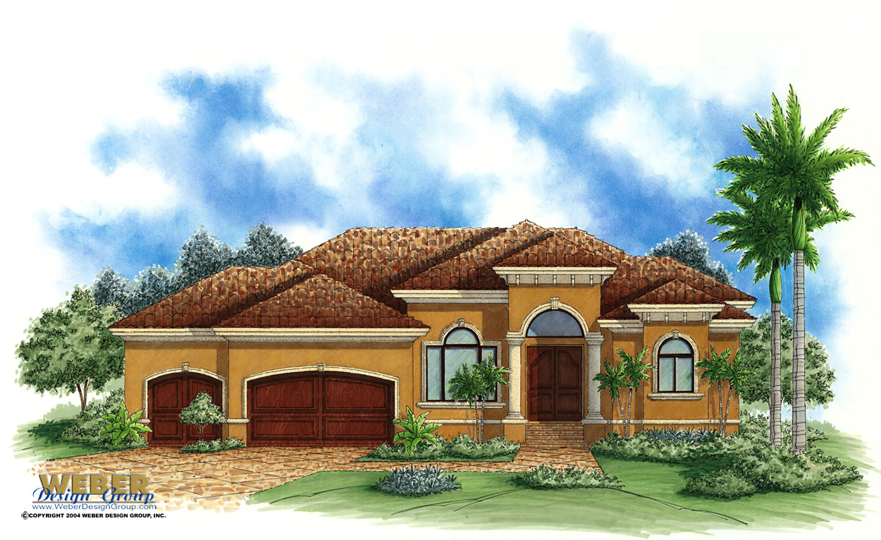 Spanish House Plans - Spanish Mediterranean Style Home Floor Plans