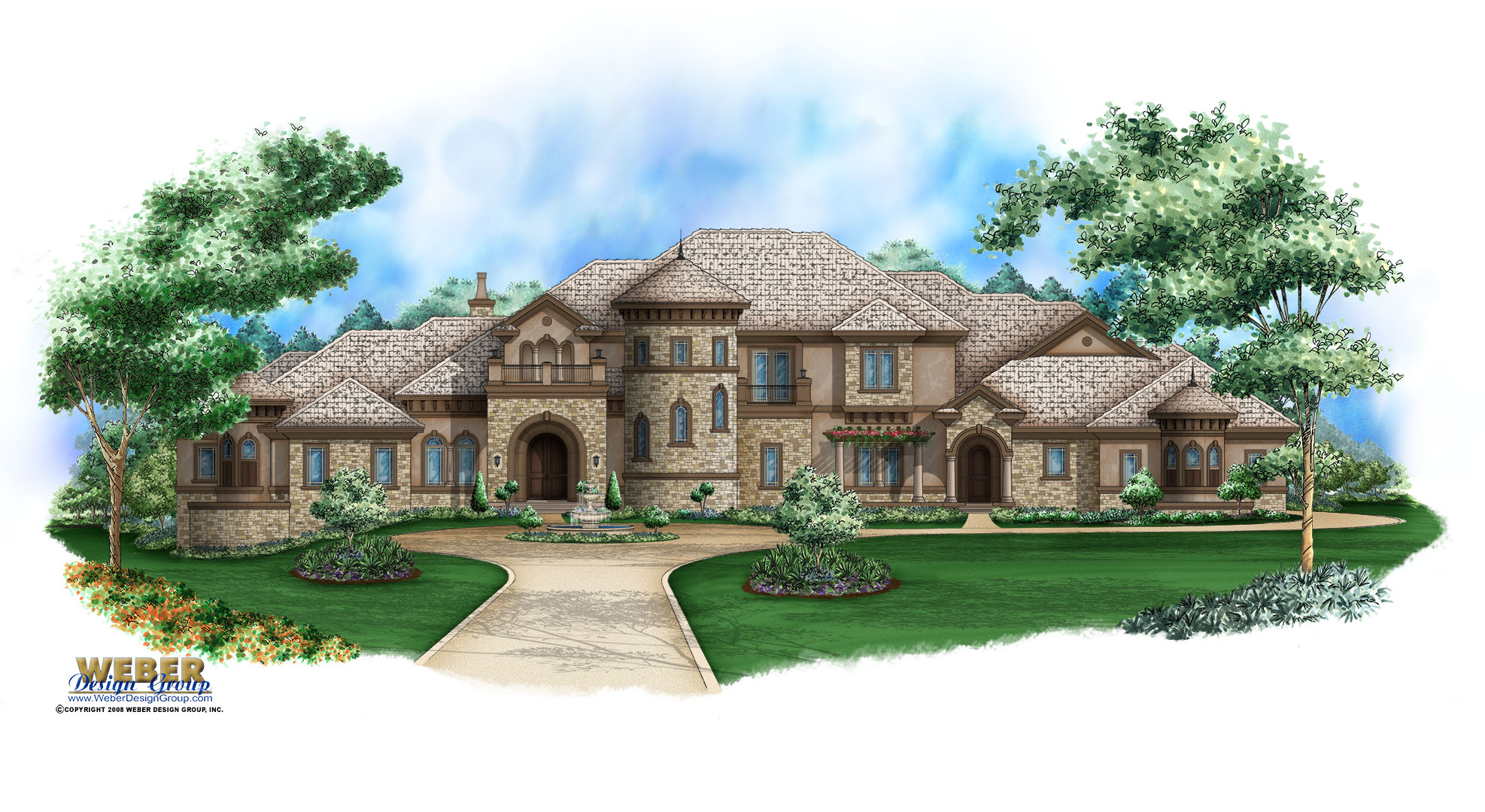 Mediterranean house plan unique tuscan dream home floor plan for Tuscan home plans