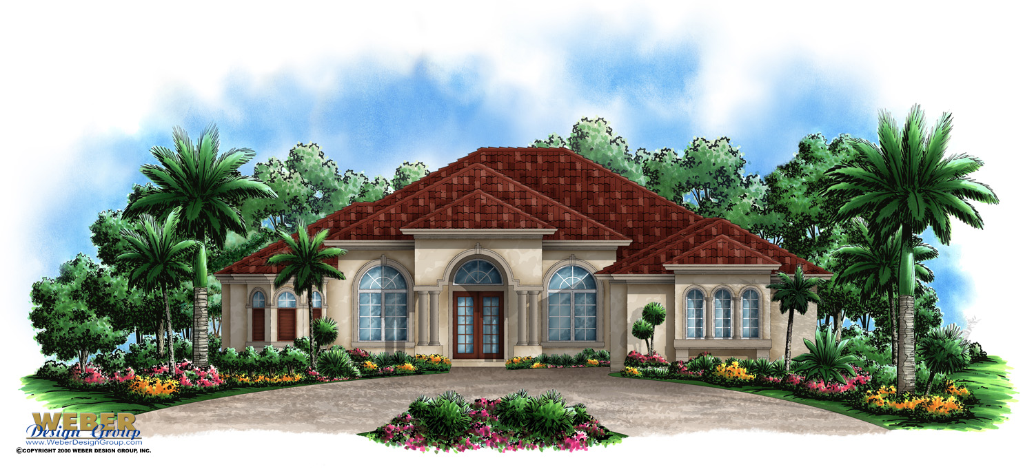 Mediterranean House Plans: Luxury Mediterranean Home Floor Plans