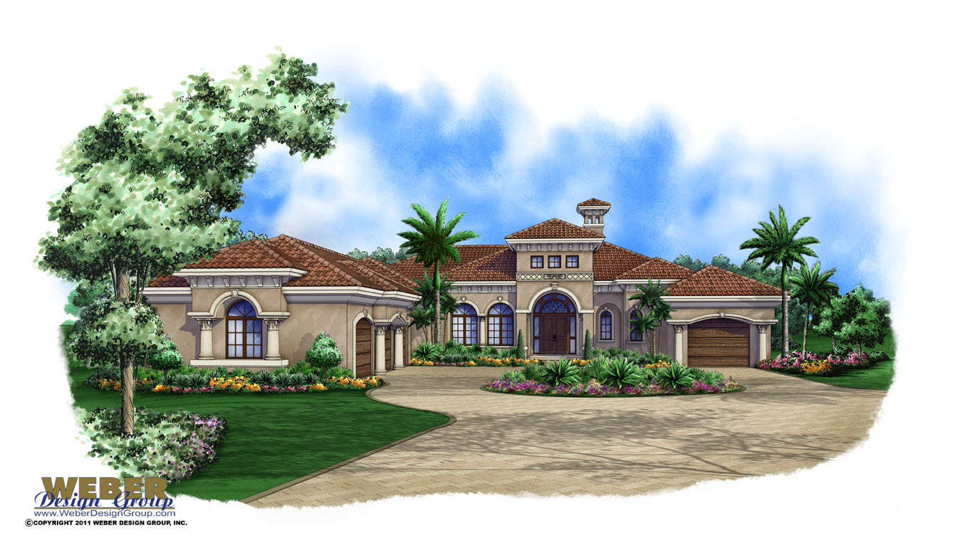 Mediterranean house plan waterfront mediterranean floor plan for Mediterranean house plans