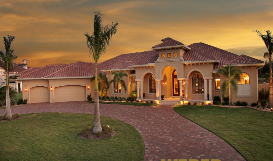 Mediterranean House Plan: Luxury Home Floor Plan With