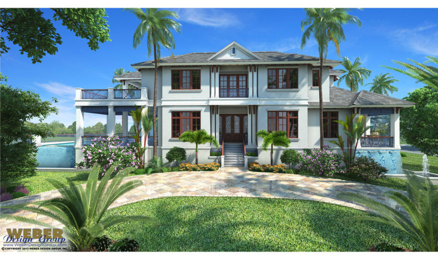 Caribbean house plan 2 story contemporary stock floor plan for Caribbean house plans