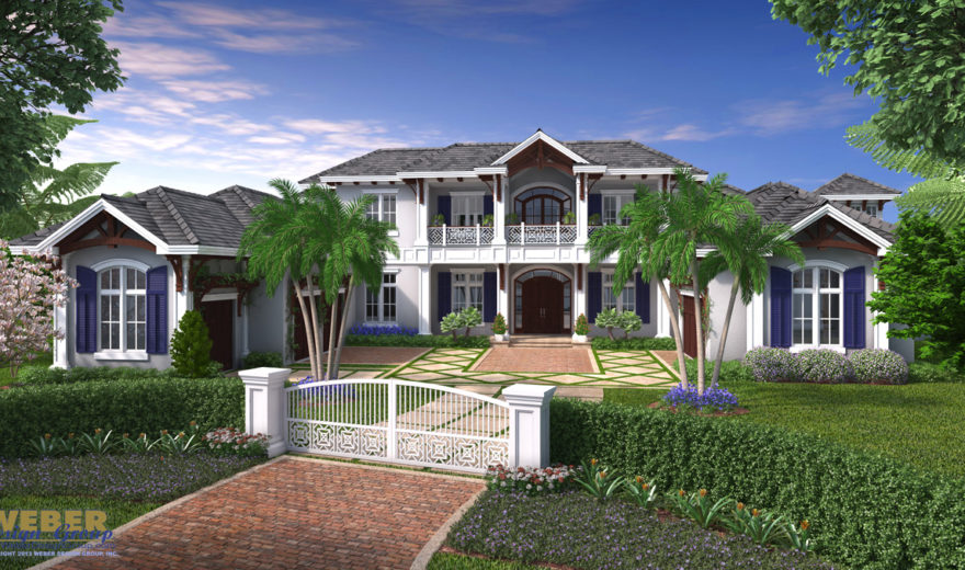 West indies house plan unique 2 story home floor plan for West indies house plans