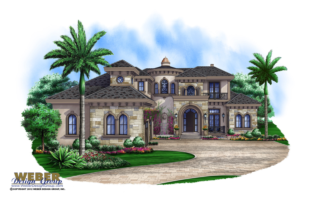luxury house plans with photos of interior, outdoor living & pools