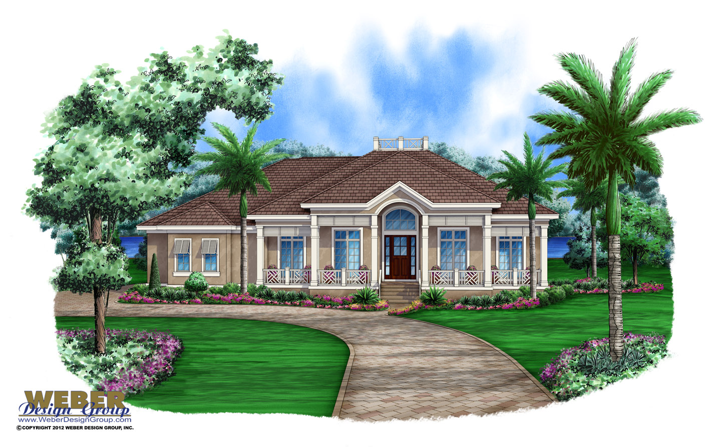 Homes with wrap around porches plan - Aruba House Plan