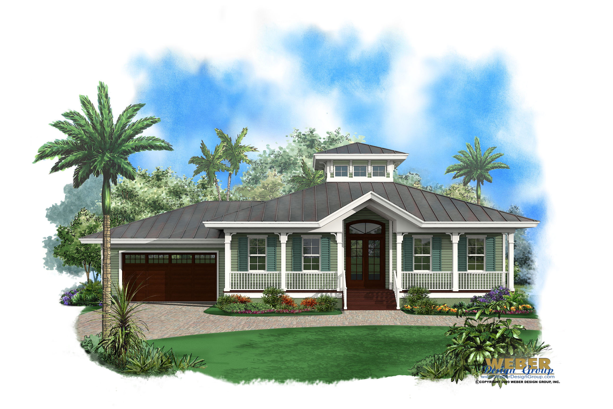Homes with wrap around porches plan - Ambergris Cay House Plan