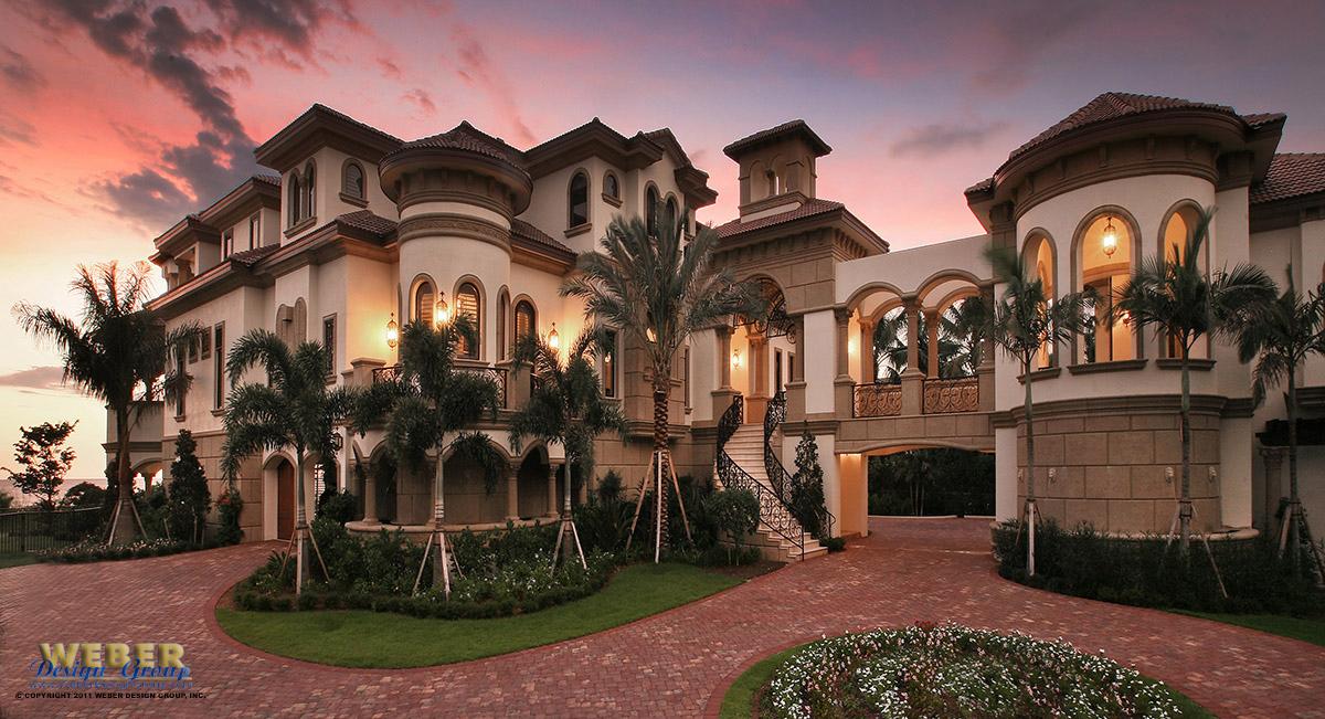 This breathtaking Mediterranean luxury house plan was