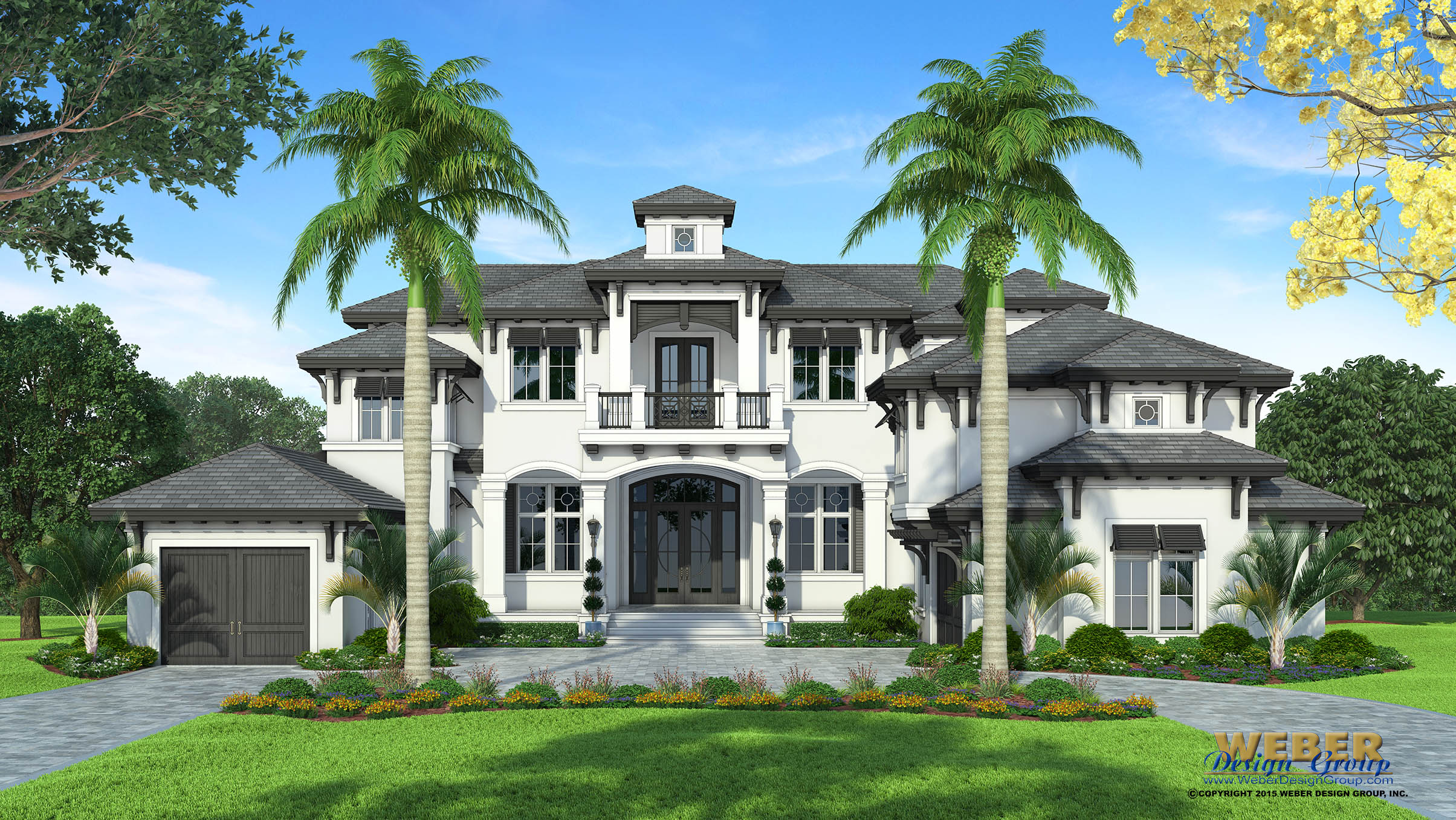 Coastal house plan luxury 2 story west indies home floor plan for Weber design