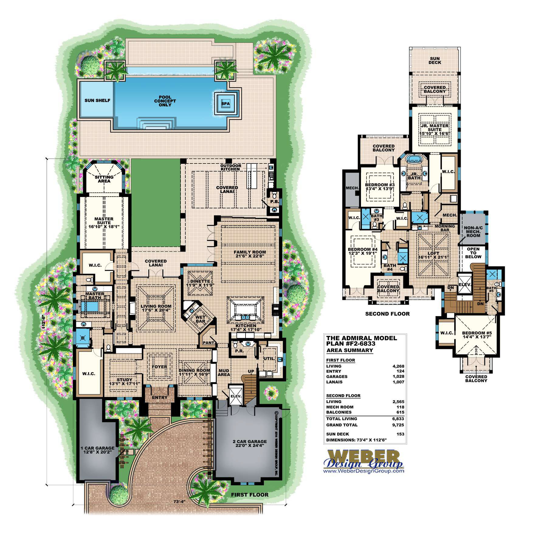 Florida house plans architectural designs stock for Custom house plans