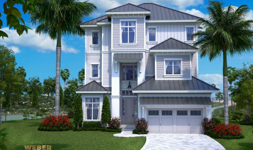 Myrtle beach home plan weber design group for Beach house design features