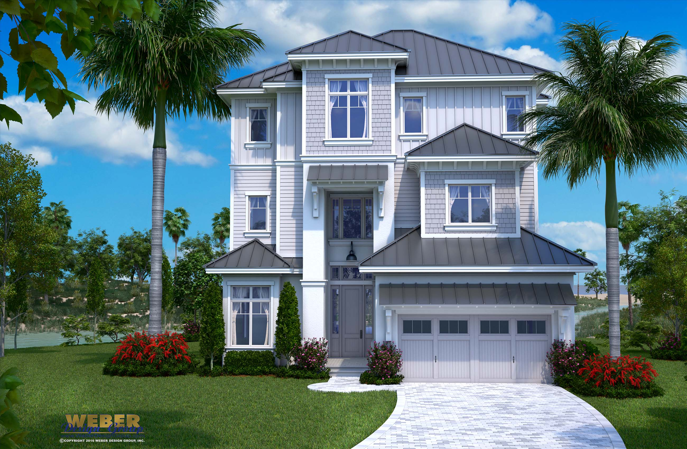 Beach house plan 3 story waterfront home stock floor plan for 3 story beach house floor plans
