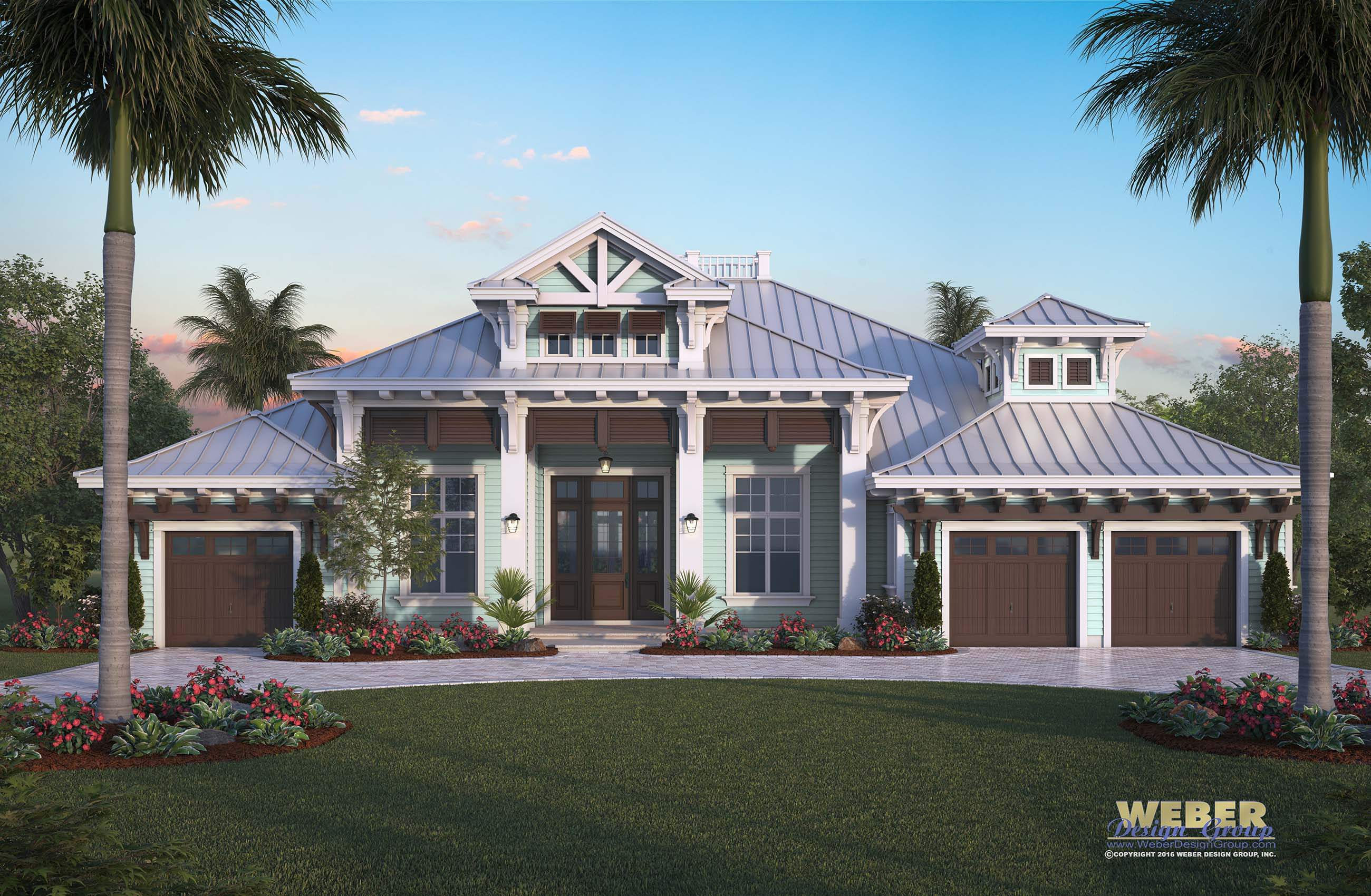 Harbor house plan luxury caribbean beach home outdoor for Coastal style house plans