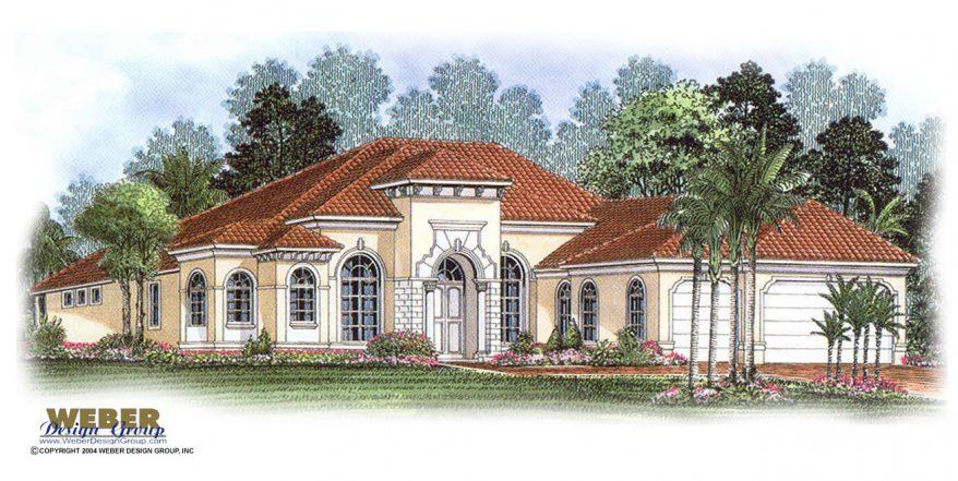 Essex house plan weber design group naples fl for Large mediterranean house plans