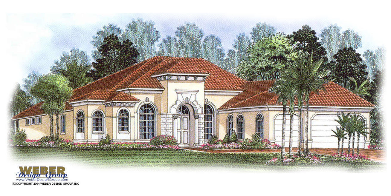Single story tuscan style house plans for Luxury single story home plans
