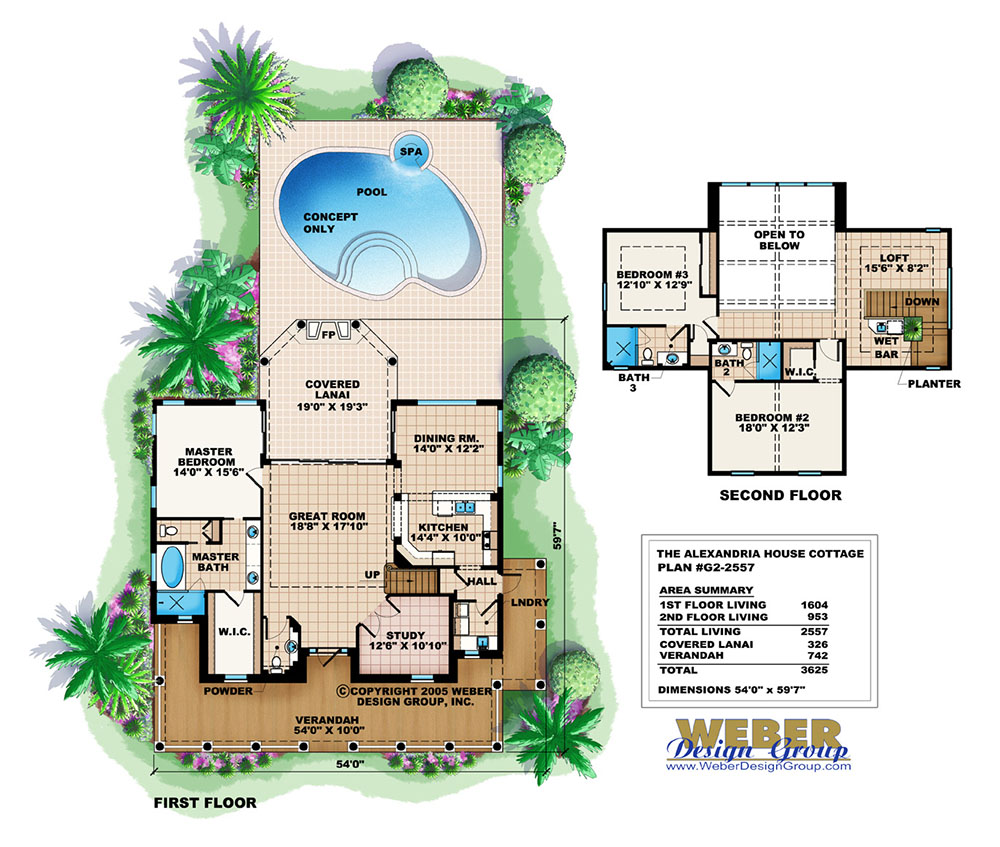 House plans with pool eplans new american house plan two for Home plans with pools