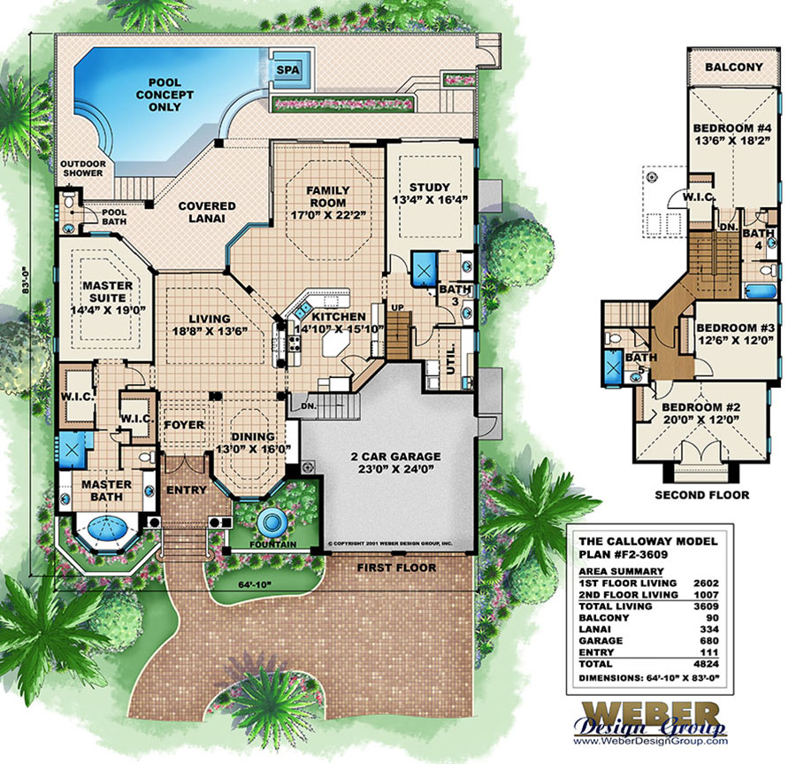 Mediterranean house plan tuscan inspired golf course home for Golf course house plans