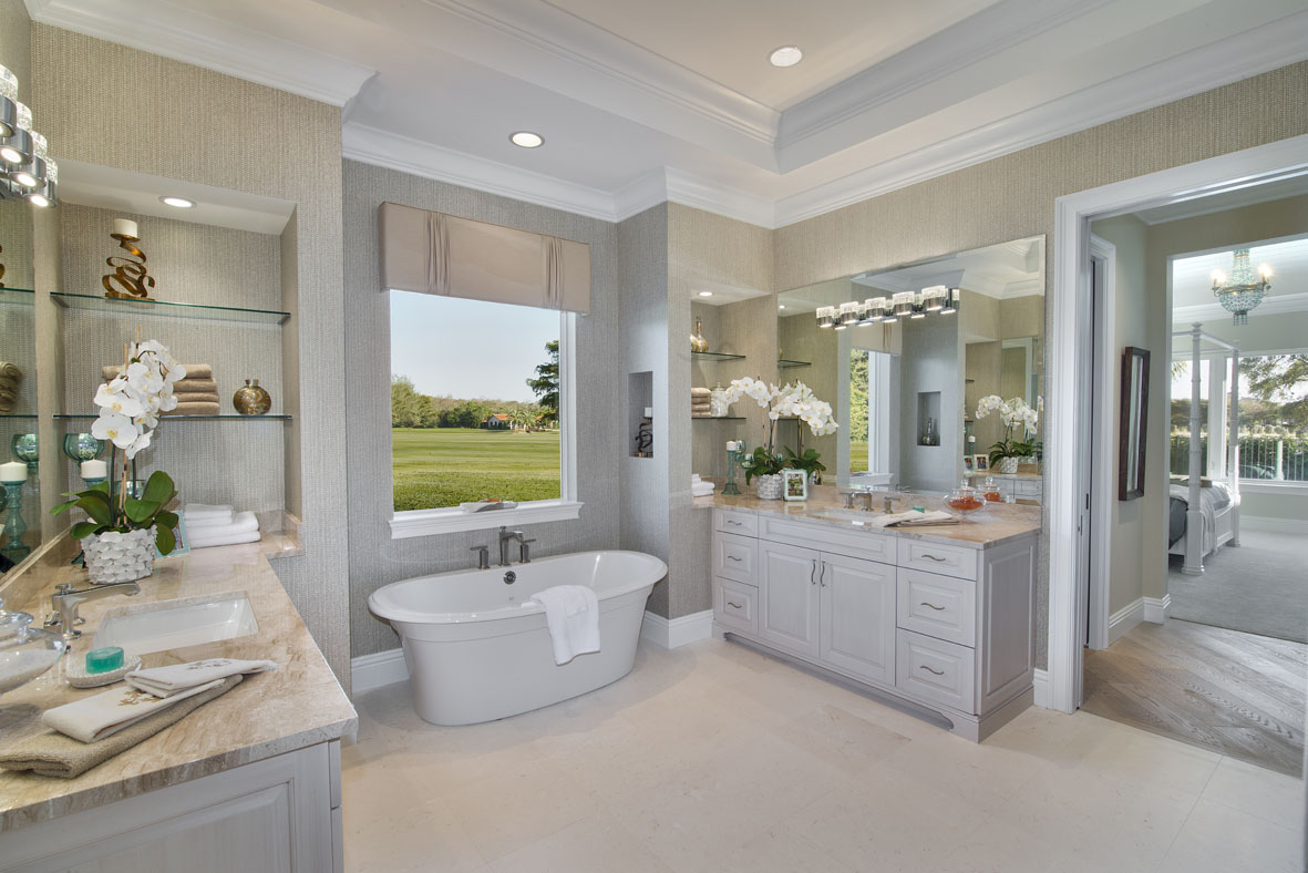 House plans with pictures of finished homes image photo for Caribbean bathroom ideas