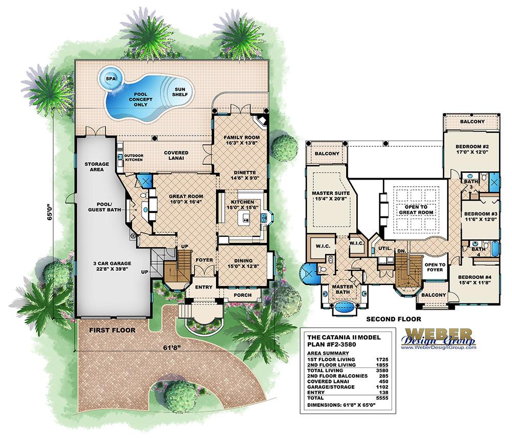 Plans Spanish House Floor Mediterranean Plan Artesia