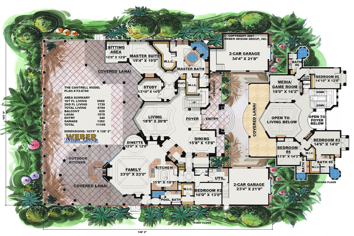 Mediterranean house plan luxury mediterranean style home for 2 story villa floor plans