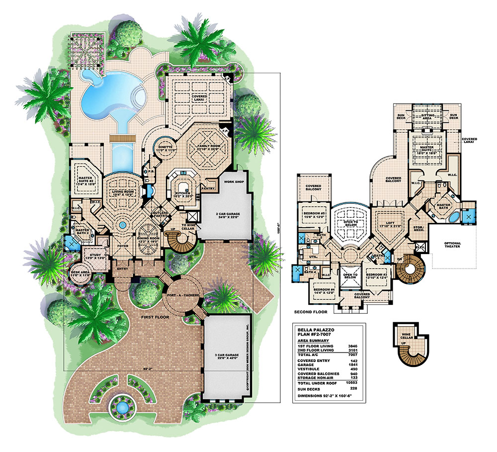 Spanish house plans spanish mediterranean style home for Mediterranean mansion floor plans