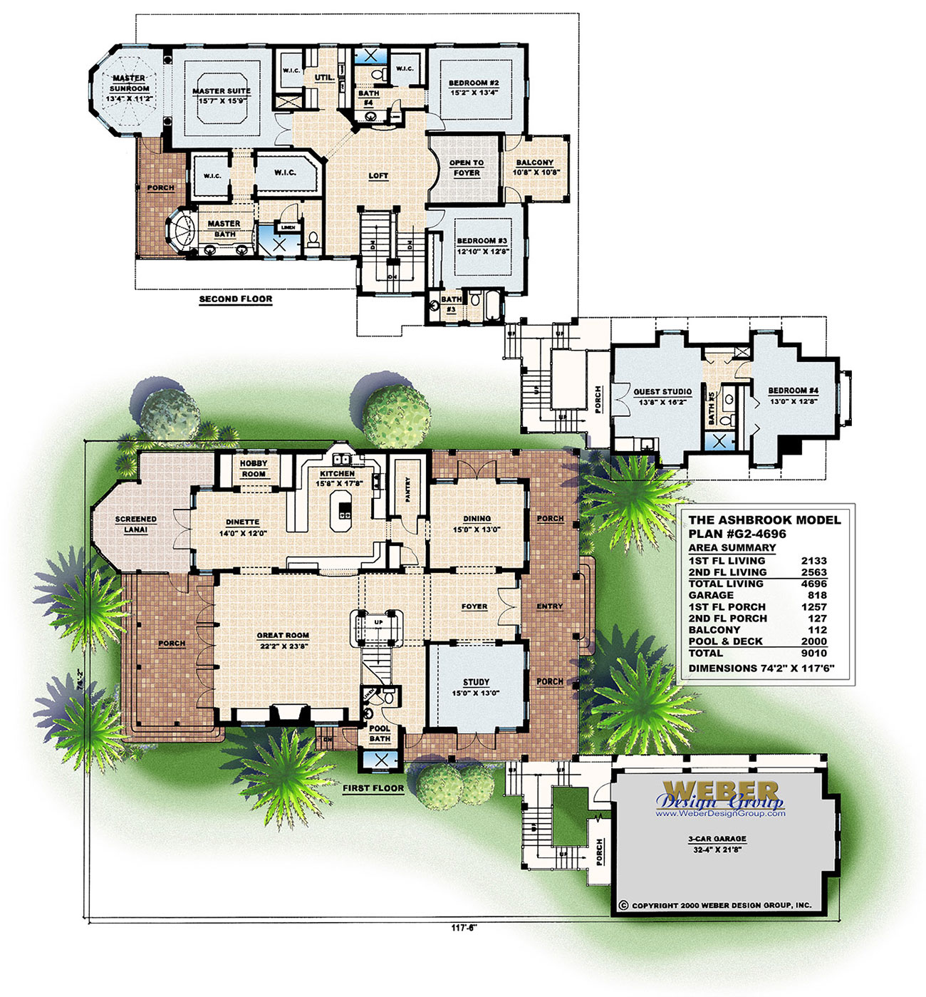 Majorca house plan weber design group for Weber house plans