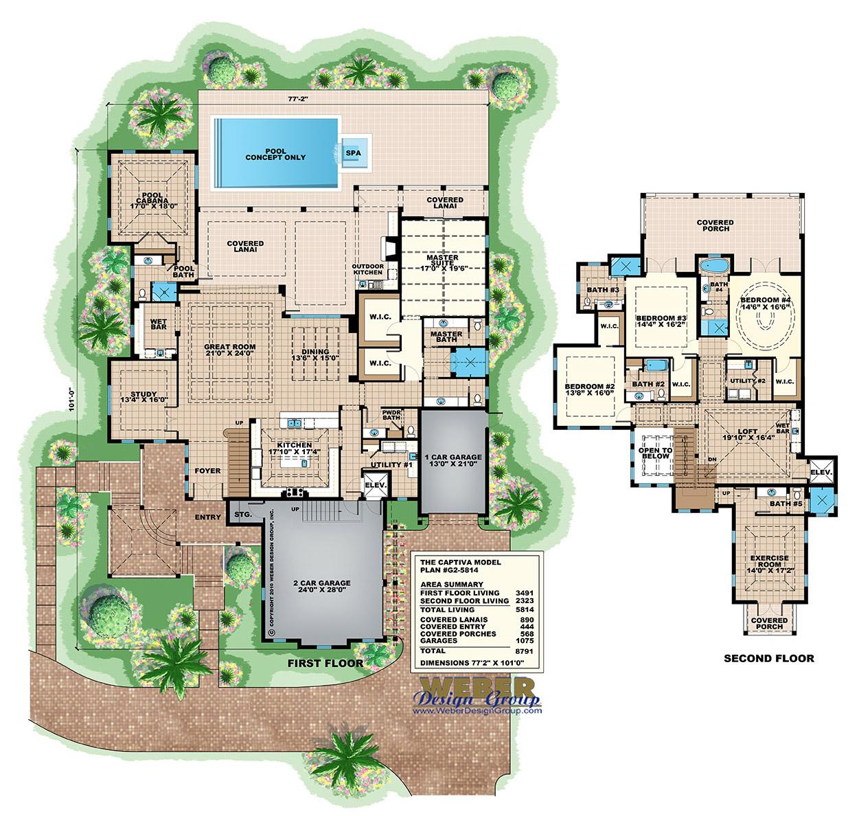 Key West House Plans Key West Island Style Floor Plans