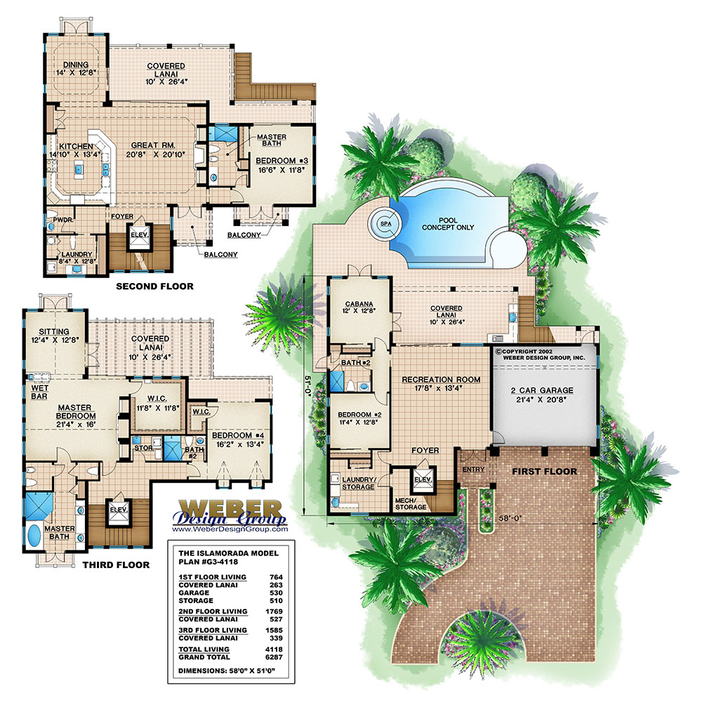 Islamorada home plan weber design group naples fl for Weber house plans