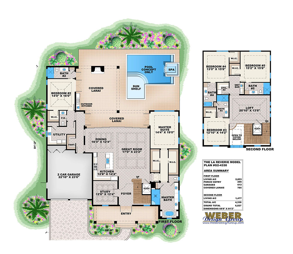 French Colonial House Plans: Colonial Plantation Style