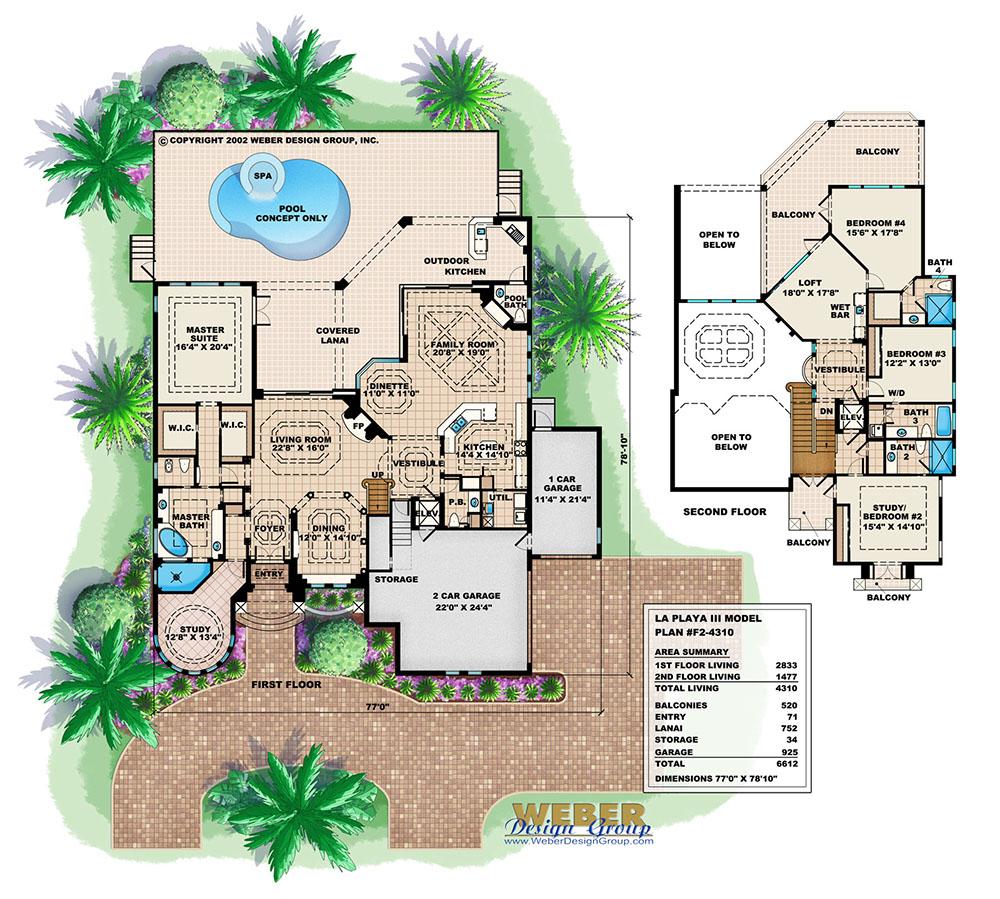 la playa iii house plan weber design group
