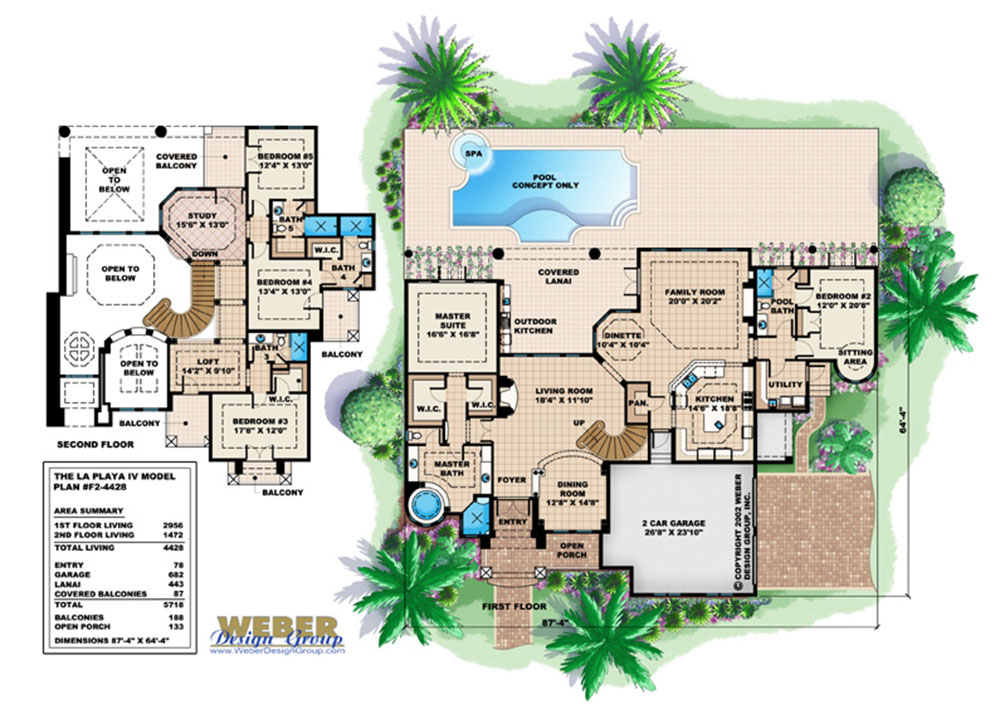 La Playa Iv Home Plan Weber Design Group Naples Fl