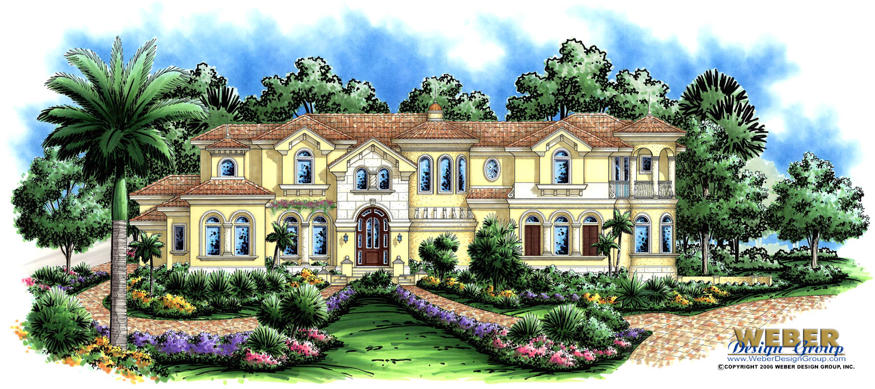 Mediterranean house plan luxury 2 story home floor plan for Luxury mediterranean home plans