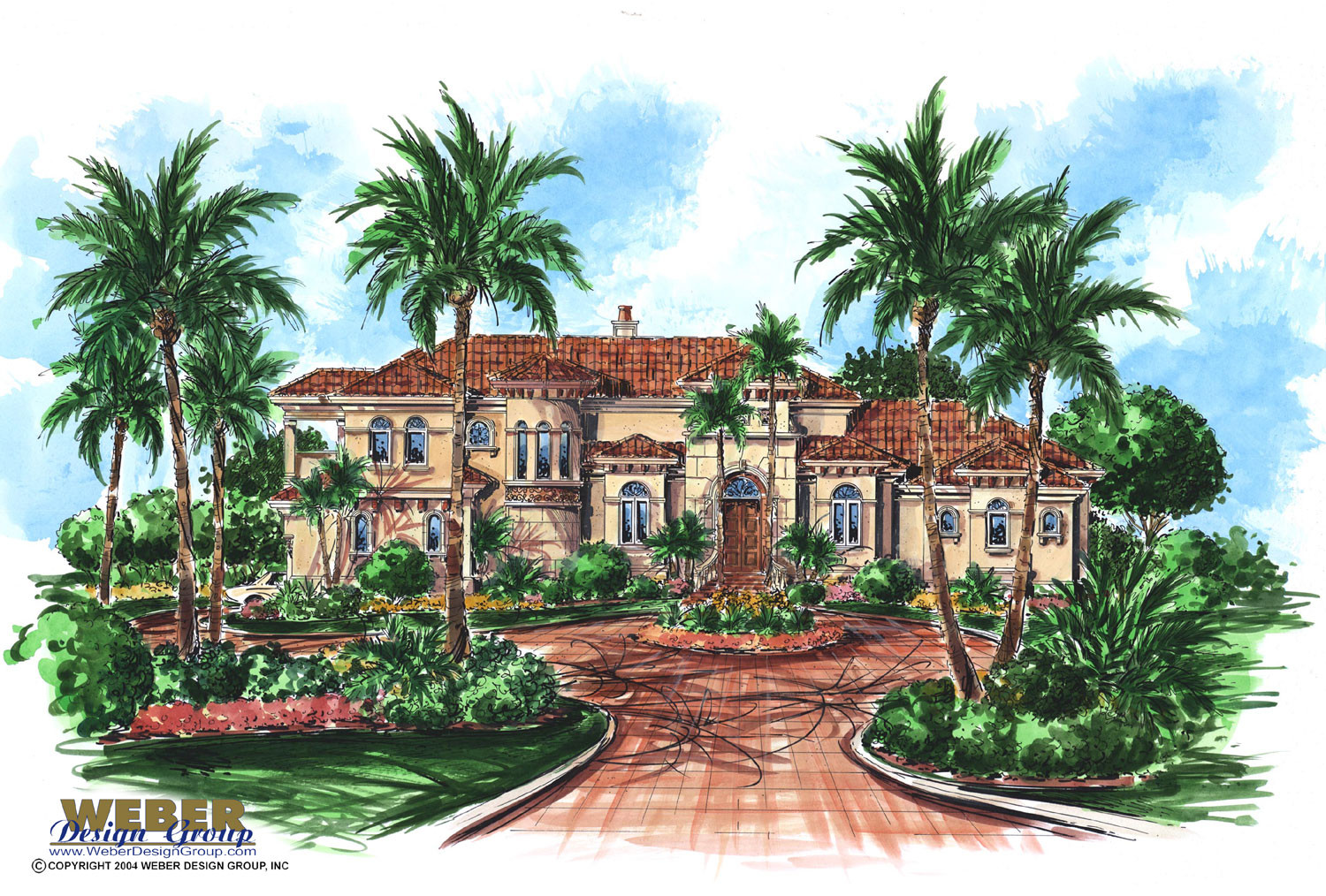 Mediterranean house plan luxury 2 story mediterranean for Mediterranean house plans with basement