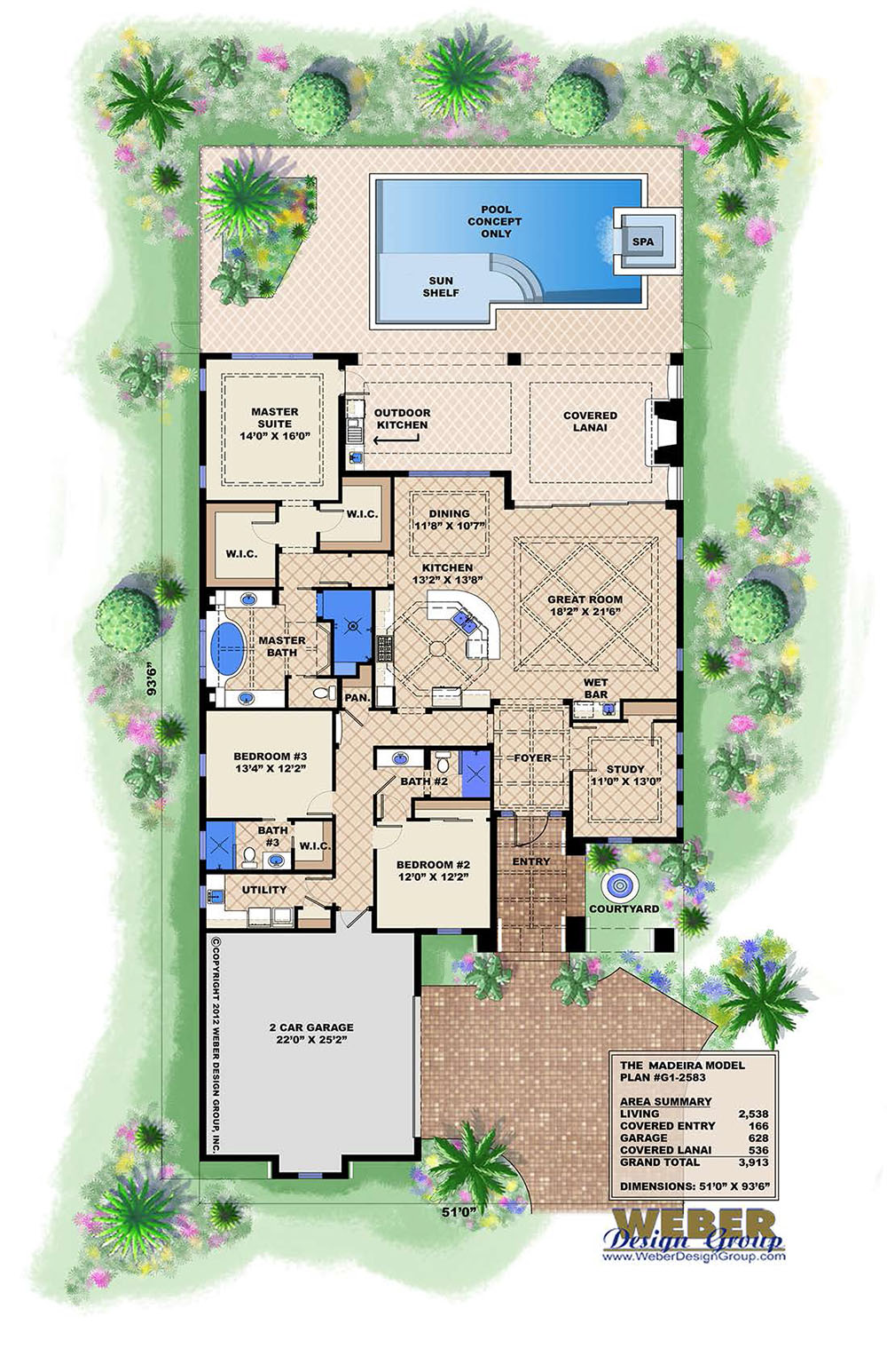 Madeira House Plan Weber Design Group Naples Fl