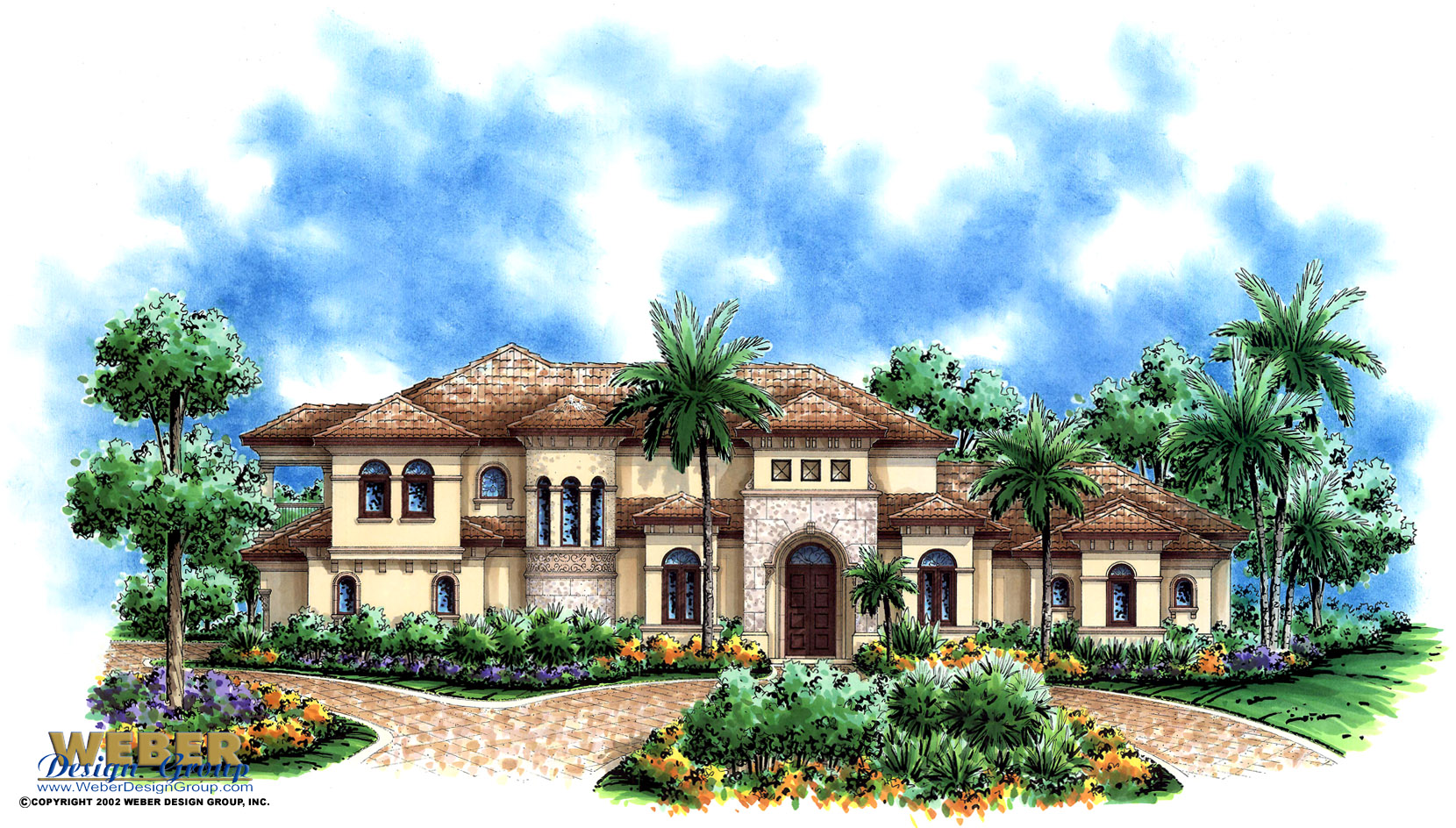 Mediterranean house plan luxury 2 story mediterranean for Two story mediterranean house plans