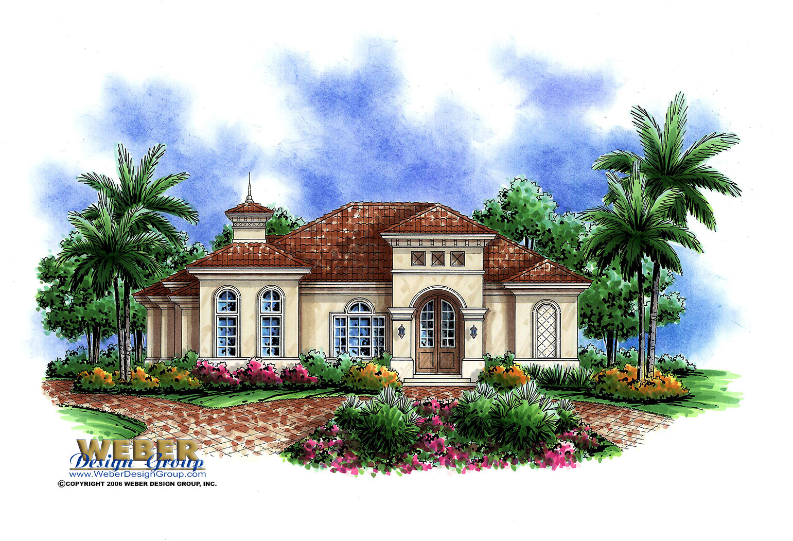 Mediterranean house plans for corner lots for Mediterranean style house floor plans