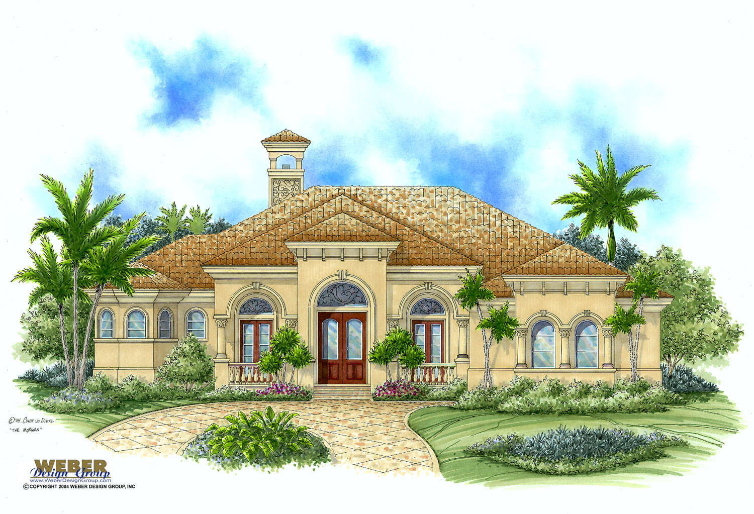Mediterranean house plan tropical style home floor plan for Mediterranean home floor plans