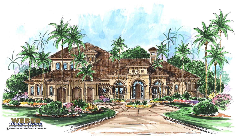 Mediterranean house plan luxury waterfront home floor plan for Mediterranean mansion plans