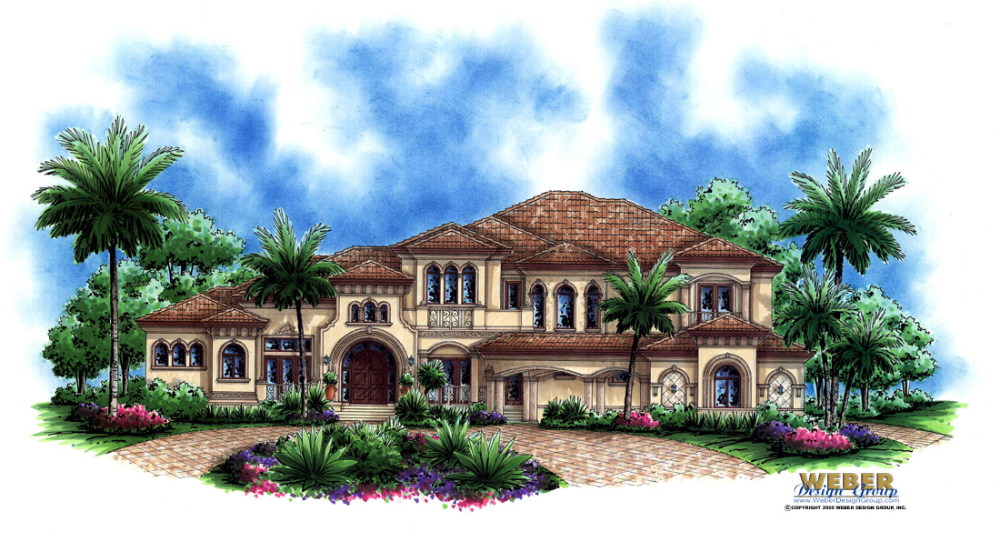 Mediterranean House Plan Tuscan Style Mansion Home Floor Plan