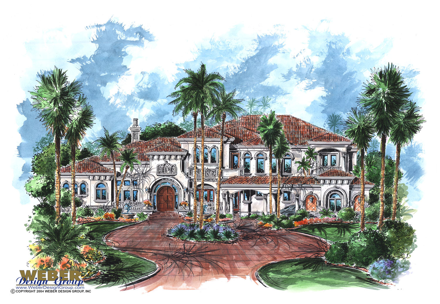 Mediterranean house plan 2 story tuscan mansion floor plan for Two story mediterranean house plans