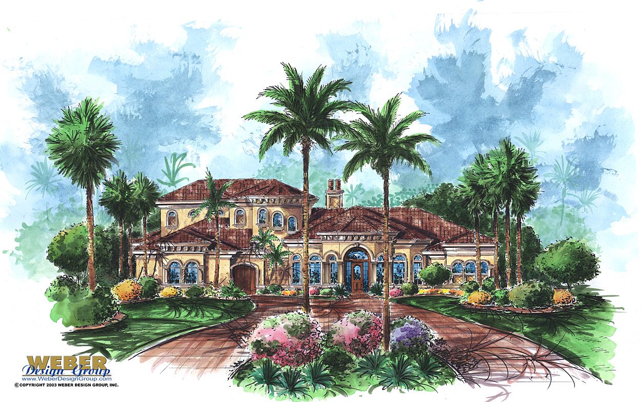 Mediterranean House Plan: 2 Floor Waterfront Home Plan with Pool on flat house designs in florida, flat house plans, flat house in guyana, flat houses in london, flat house with garage, flat house design inside,