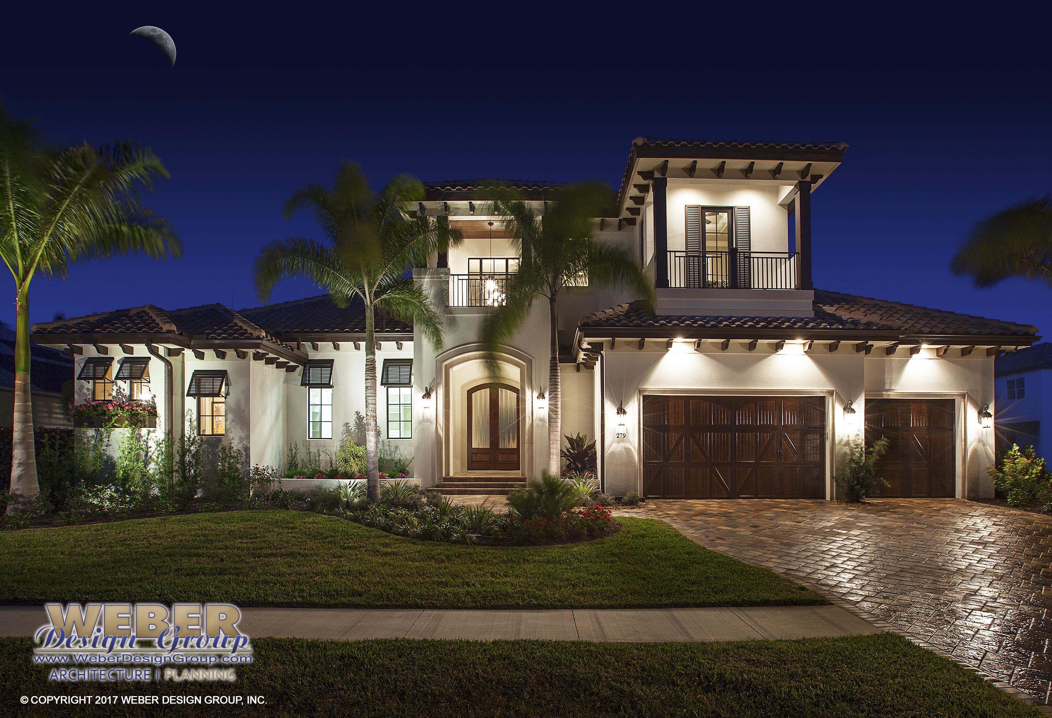 Mustique House Plan Weber Design Group