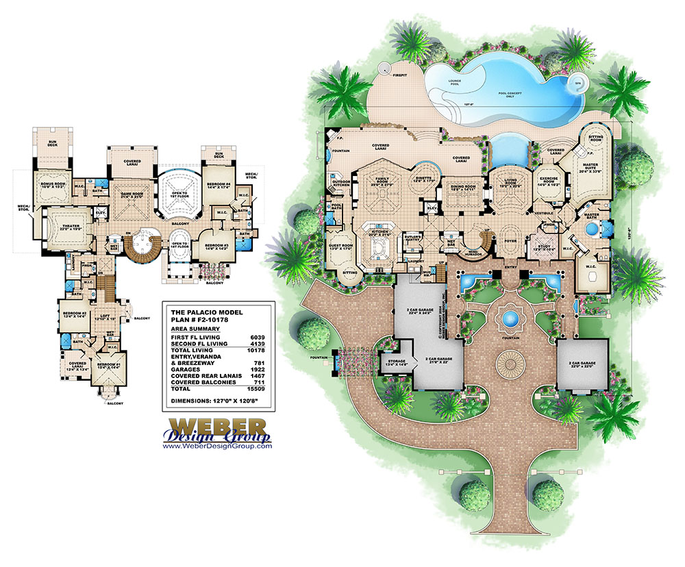 Mediterranean house plan luxury tuscan beach home floor plan for Weber house plans