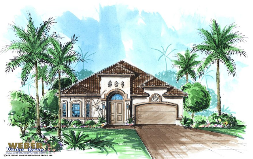 Mediterranean House Plan: Small, Narrow Coastal Lot Home
