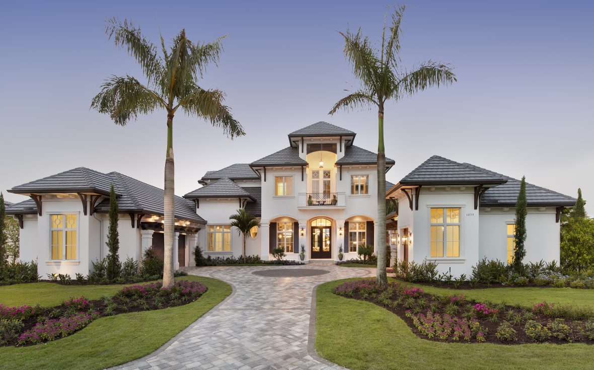 Golf magazine dream home golf course home build in naples for Golf course home designs
