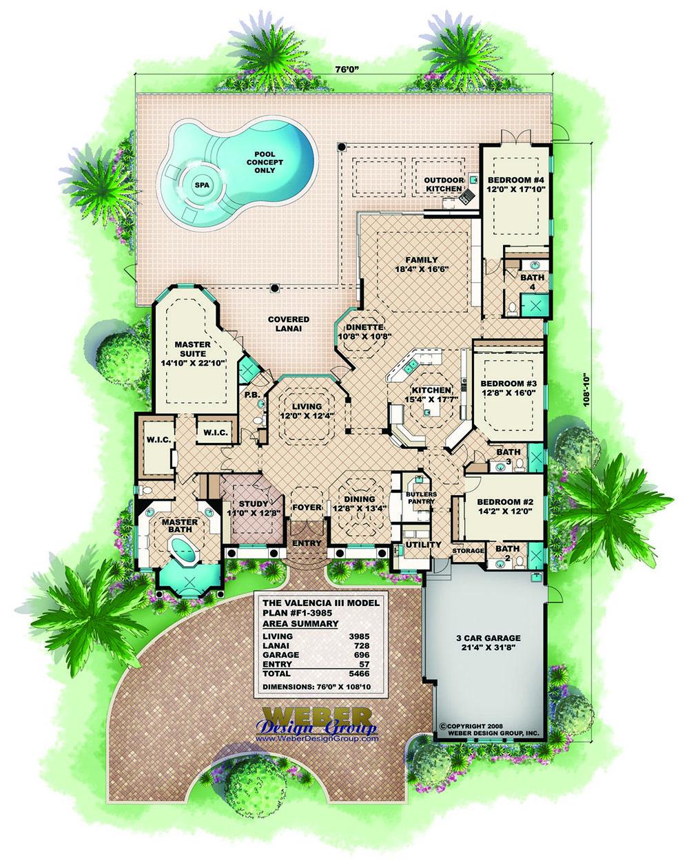 Mandalay Bay House Plan Weber Design Group Inc