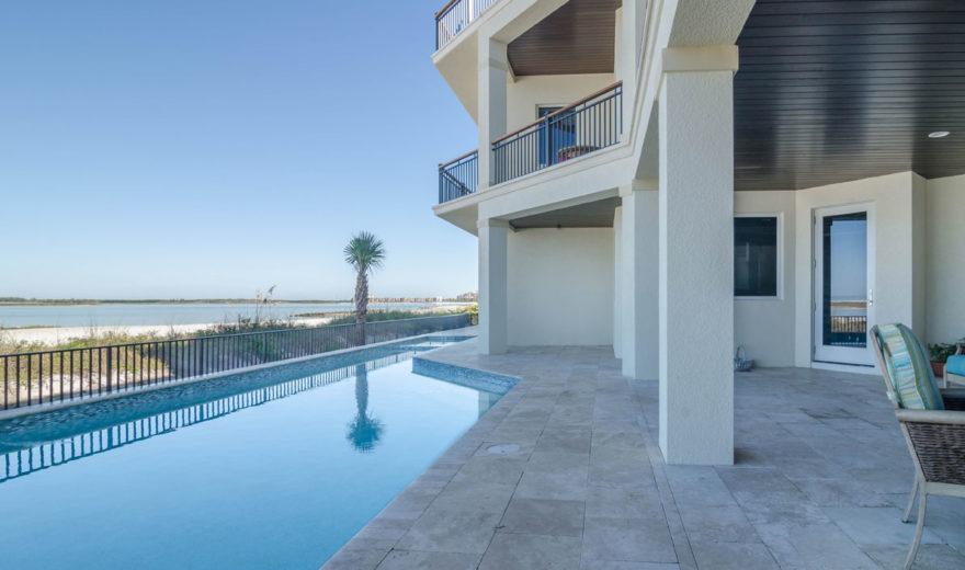 Beach house plan with photos 3 story caribbean coastal for Oceanside house plans