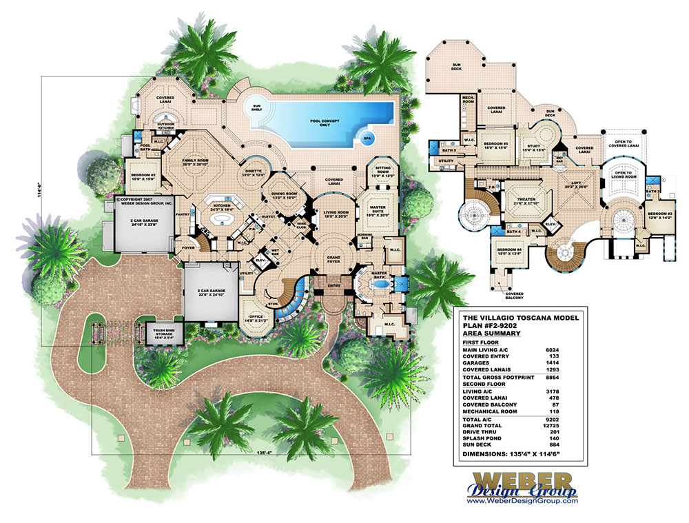 Ambergris Cay House Plan Weber Design Group