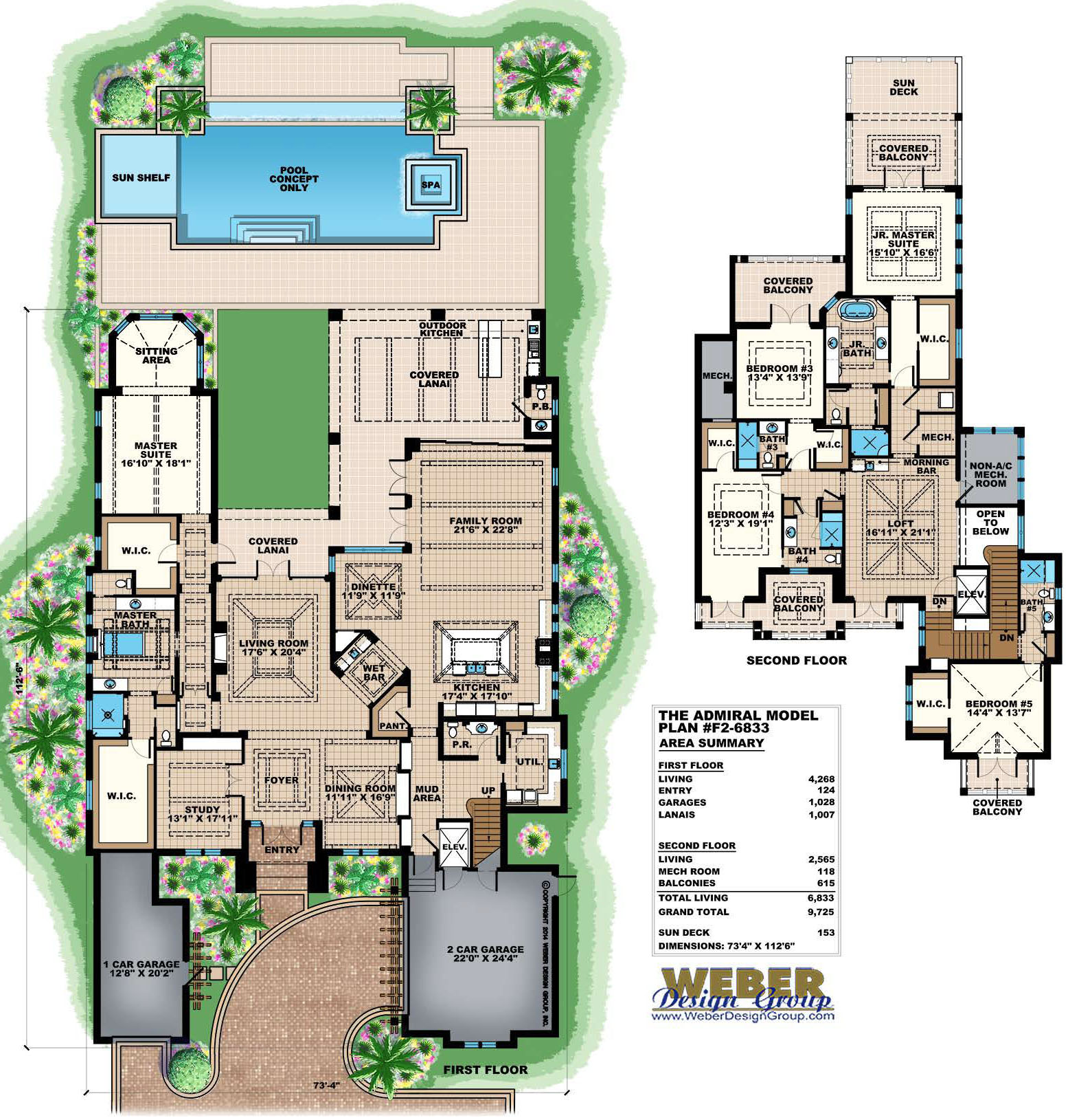 House plans waterfront view for Waterfront house floor plans